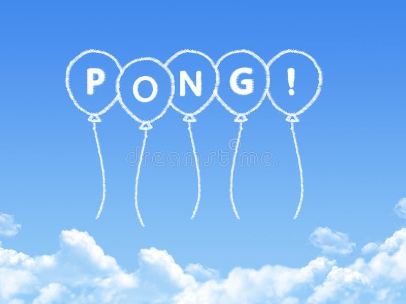 当pong消息被塑造的云彩 库存例证
