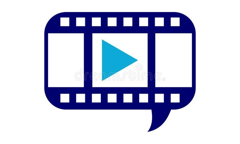 录影分享的营销解答 向量例证