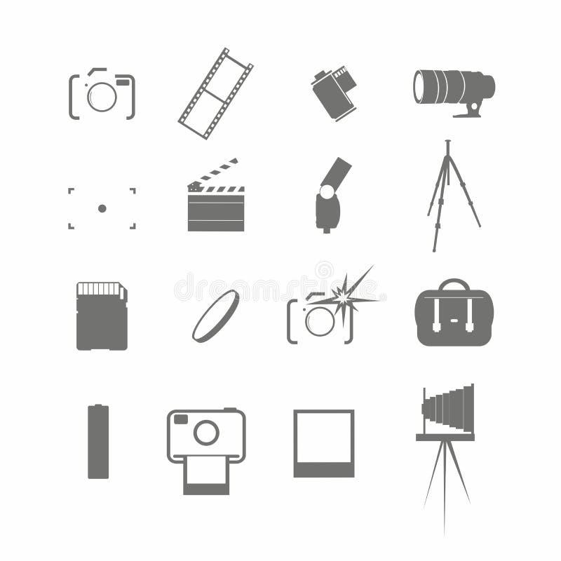 录影和照片象集合 库存例证