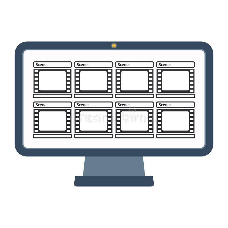 录影生产计算机 皇族释放例证