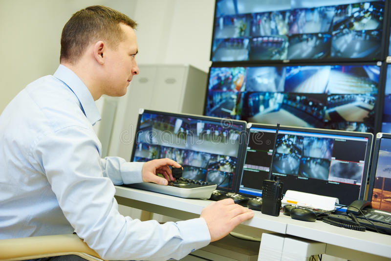 录影监视监视保安系统 免版税库存图片
