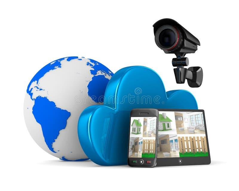录影观察系统 向量例证