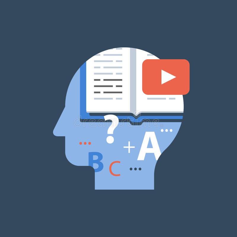 录影讲解,网上大学类,检查准备,遥远的教育 库存例证