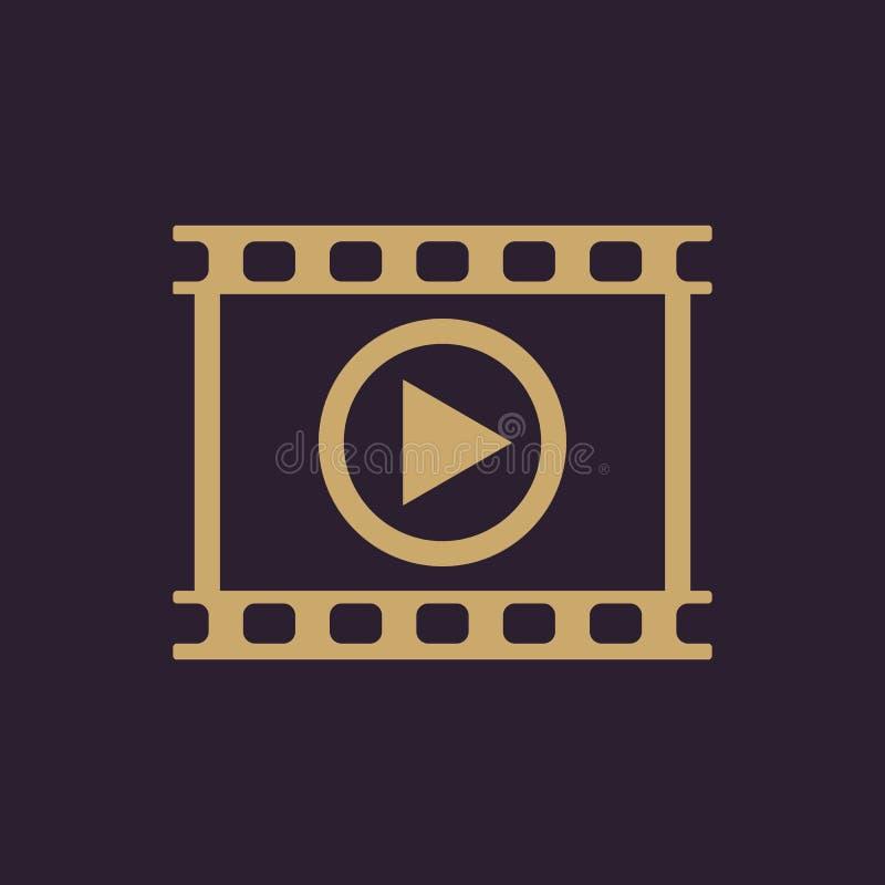 录影象 戏剧和球员,电影,戏院标志 平面 库存例证