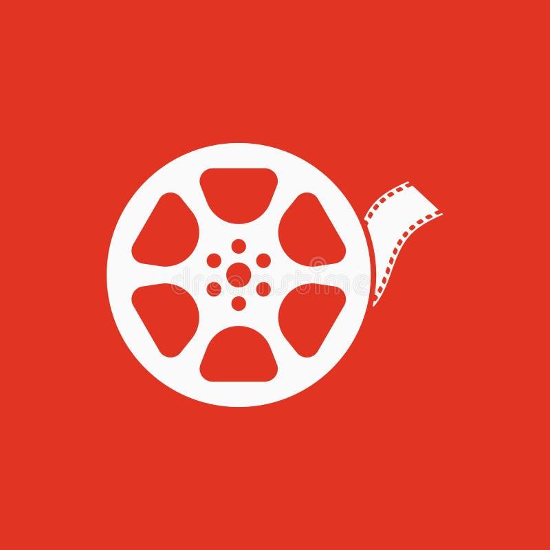 录影象 电影标志 平面 皇族释放例证