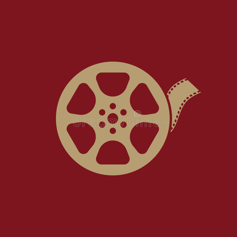 录影象 电影标志 平面 库存例证