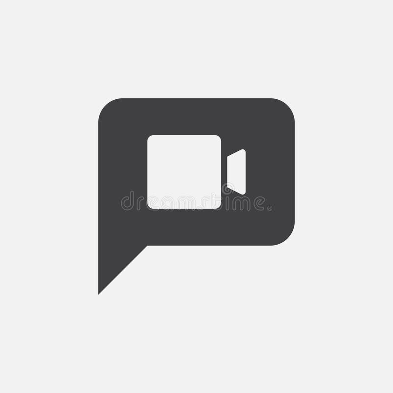 录影闲谈象,传染媒介商标例证,在白色隔绝的图表 向量例证