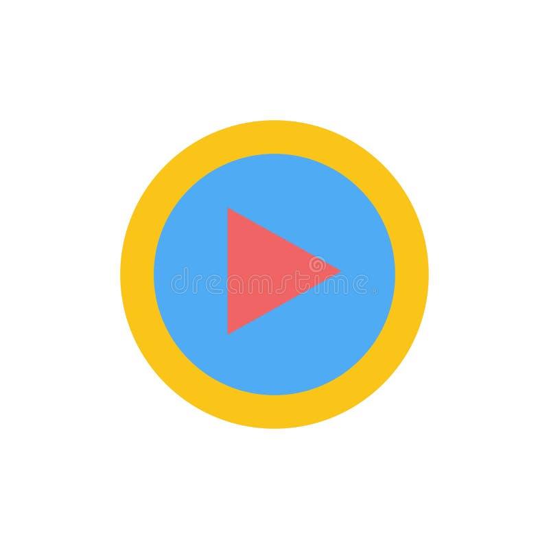 录影,接口,戏剧,用户平的颜色象 传染媒介象横幅模板 向量例证