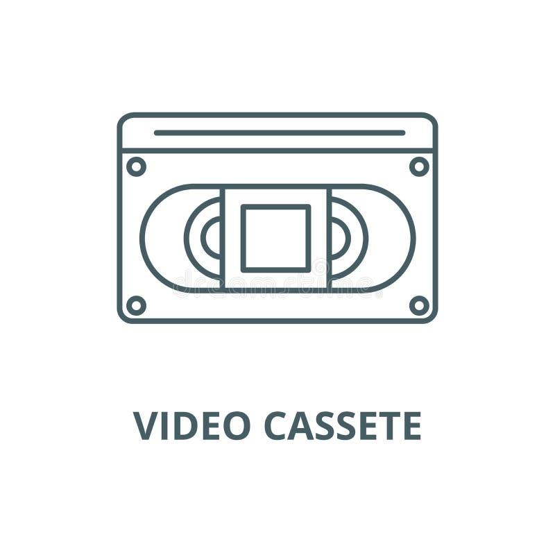 录影cassete传染媒介线象,线性概念,概述标志,标志 向量例证