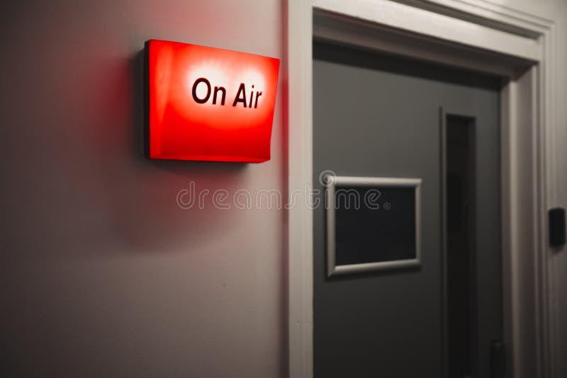 录音室入口 免版税库存图片