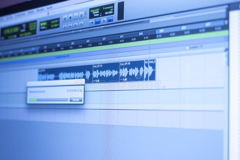 录音室音频控制 免版税库存照片