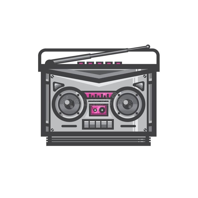 录音机磁性卡式磁带播放机 库存例证