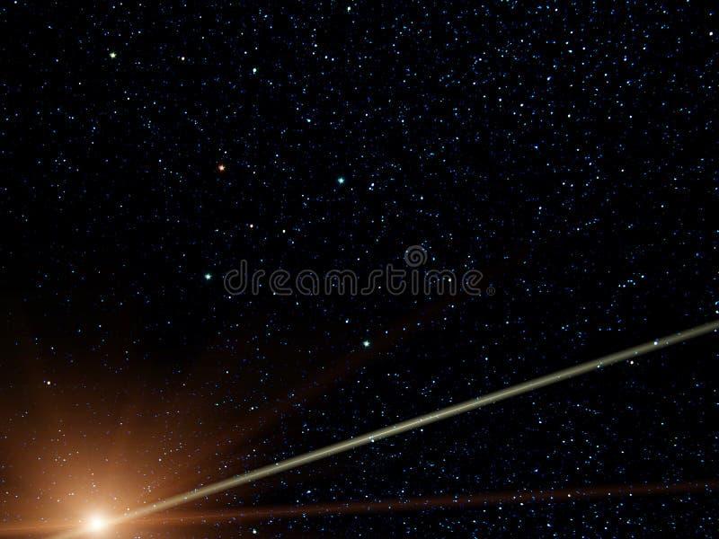 彗星南部星座的交叉 向量例证