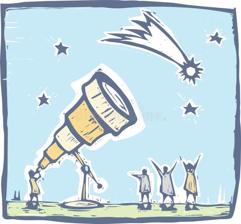 彗星望远镜 向量例证