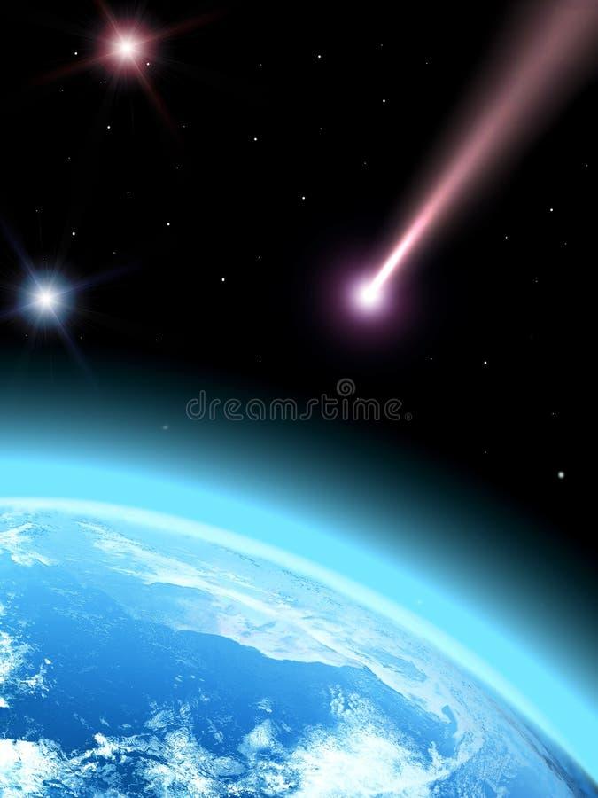 彗星落 库存例证