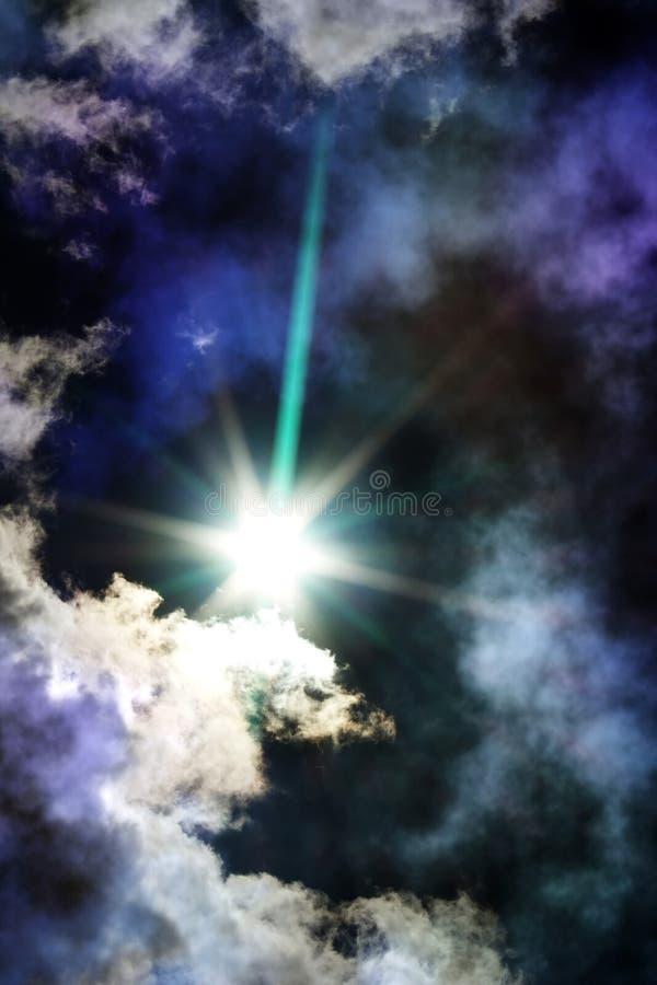 彗星雾天空星形 免版税库存图片