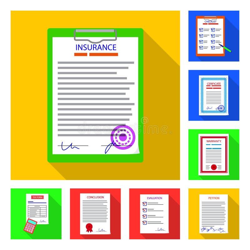 形式和文件标志被隔绝的对象  形式和标记股票简名的汇集网的 皇族释放例证