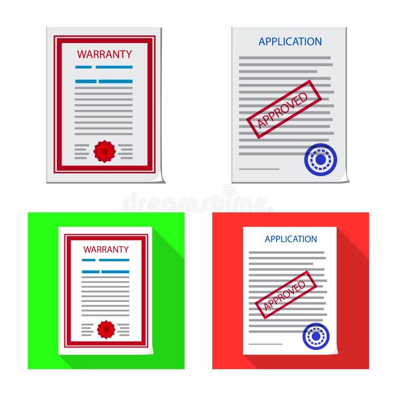 形式和文件象被隔绝的对象  设置形式和标记股票传染媒介例证 向量例证