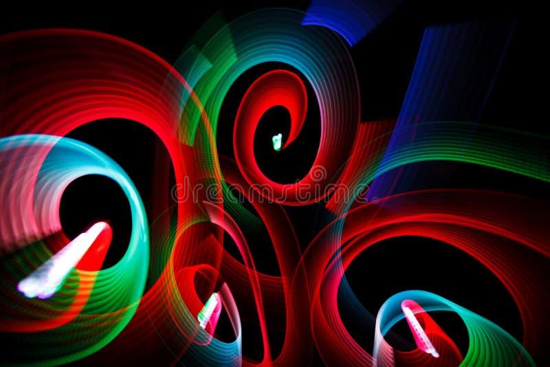 形成光亮模式螺旋 库存图片