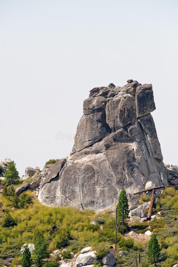 形成唯一花岗岩的岩石 库存照片