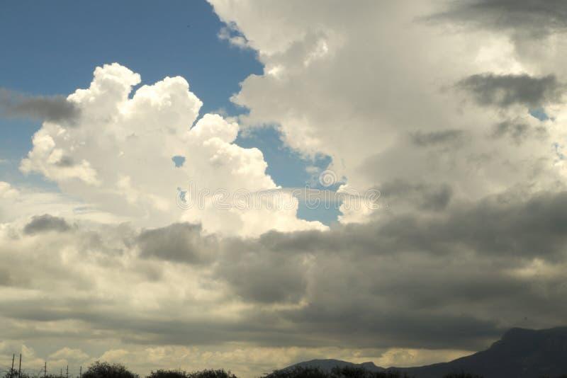 形成在风暴前面的484朵云彩 免版税库存图片