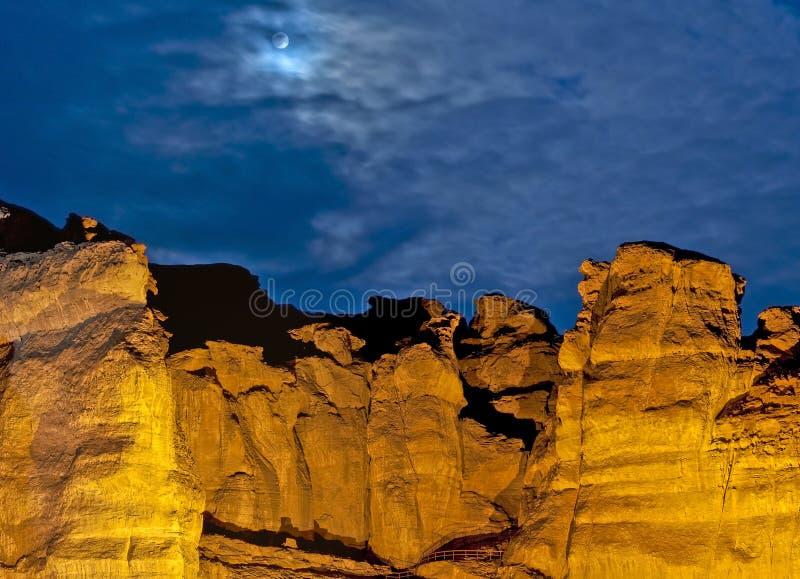 形成地质以色列公园timna 库存照片