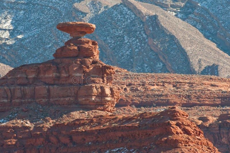 形成帽子墨西哥岩石 库存照片