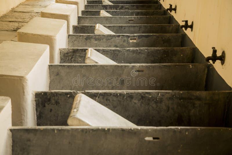 形成样式的古老各自的洗涤物 免版税库存图片