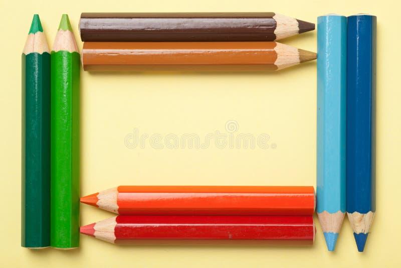 形成框架的颜色书写长方形 免版税库存图片