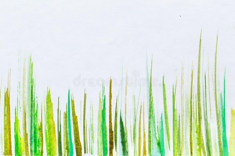 形成由条纹的抽象水彩背景 库存照片