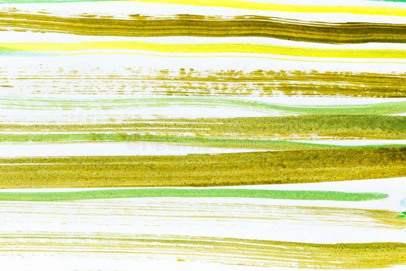 形成由条纹的抽象水彩背景 图库摄影