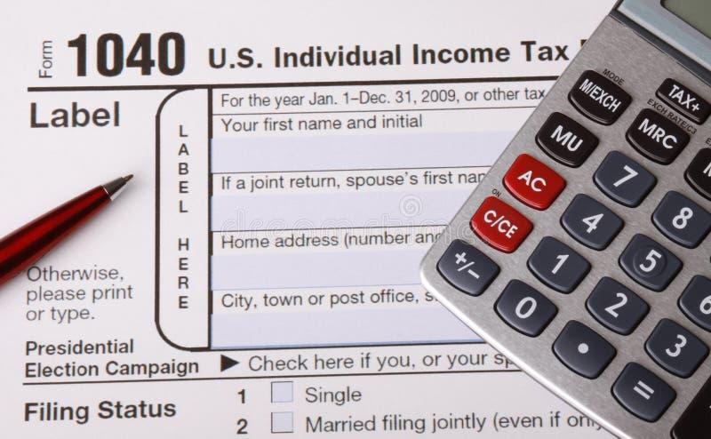 形成税务 免版税库存照片