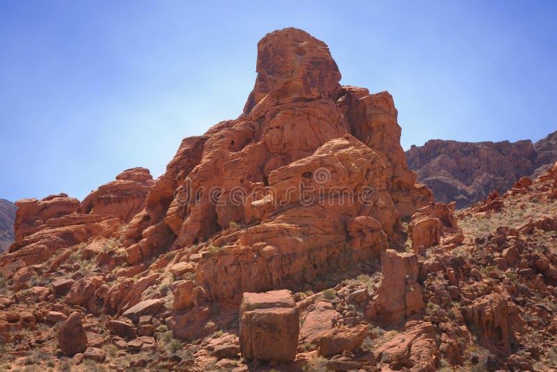 形成红色岩石 库存照片