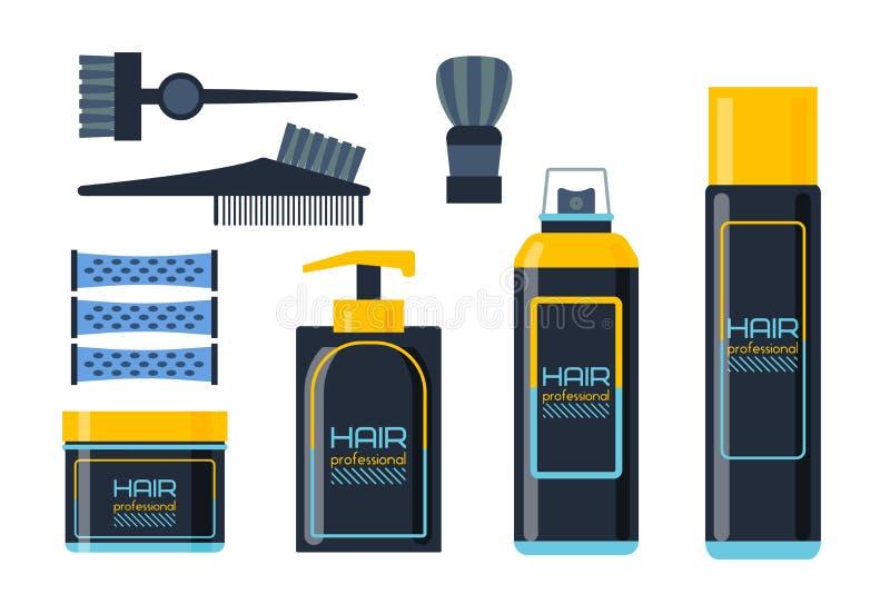 形成胶冻泡沫或液体皂分配器泵浦塑料头发香波瓶设计和健康卫生学闻的治疗化妆水 库存例证