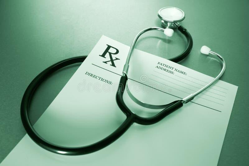 形成规定rx听诊器 免版税库存图片