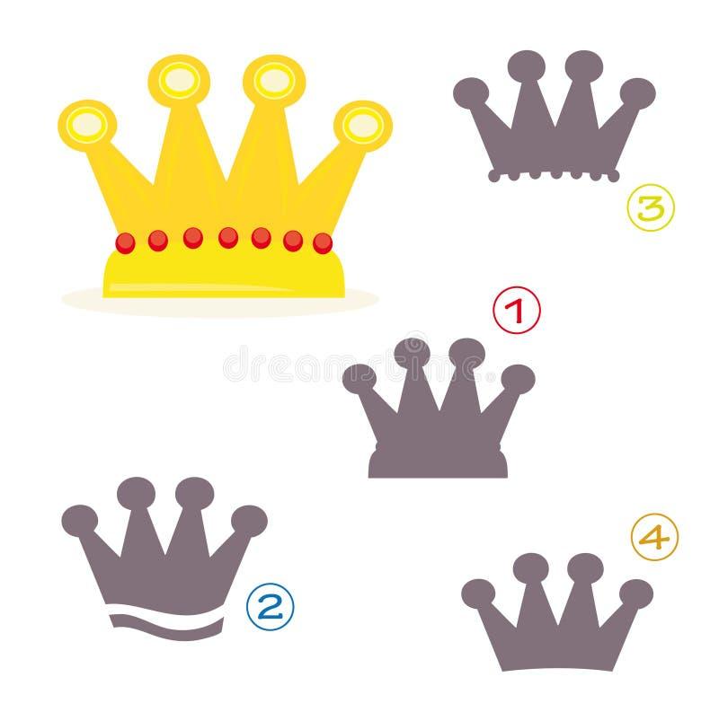 形状比赛-冠 皇族释放例证