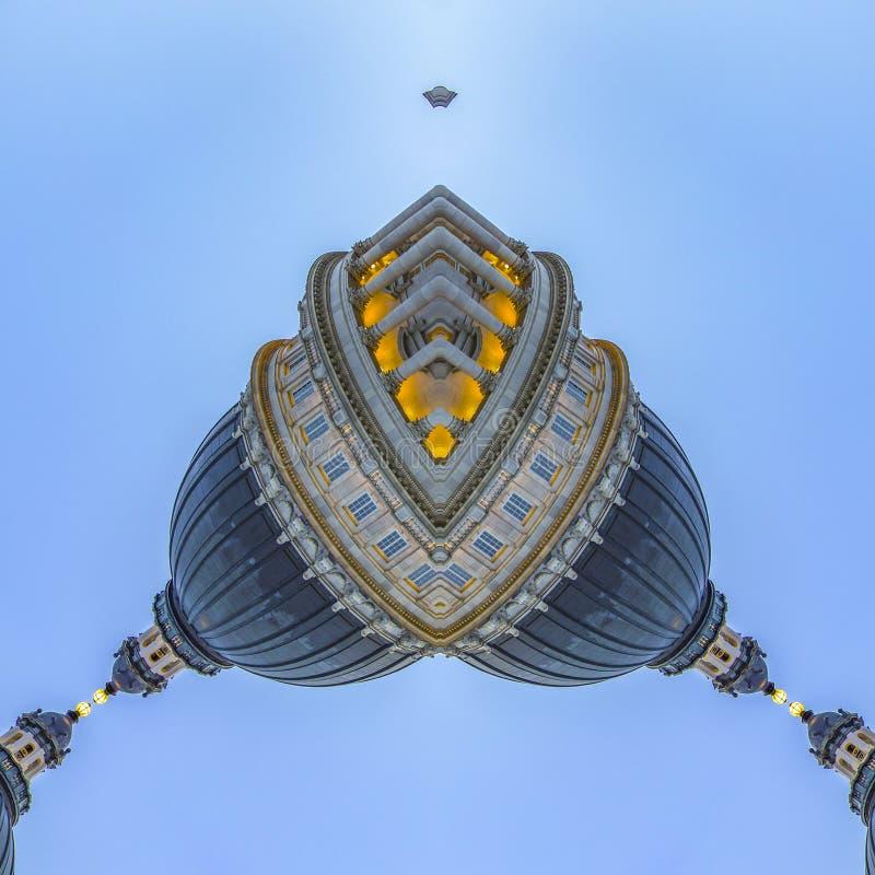 形状用资本大厦的圆顶做了 皇族释放例证