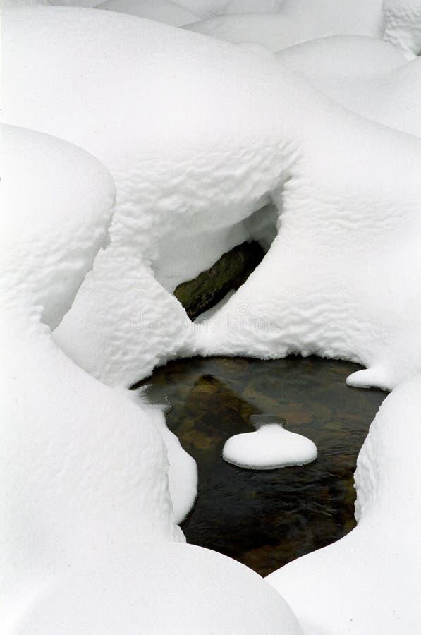 形状雪 库存照片