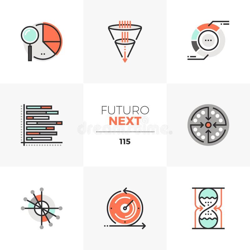 形象化绘制Futuro下个象图表 向量例证
