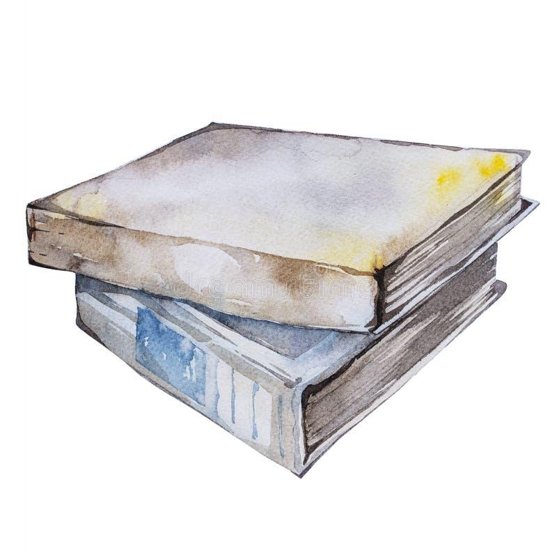 水彩书图解 手画堆隔绝在白色背景 向量例证