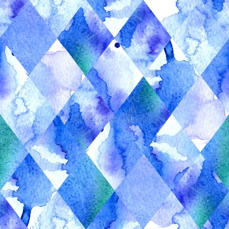 水彩几何背景 库存例证