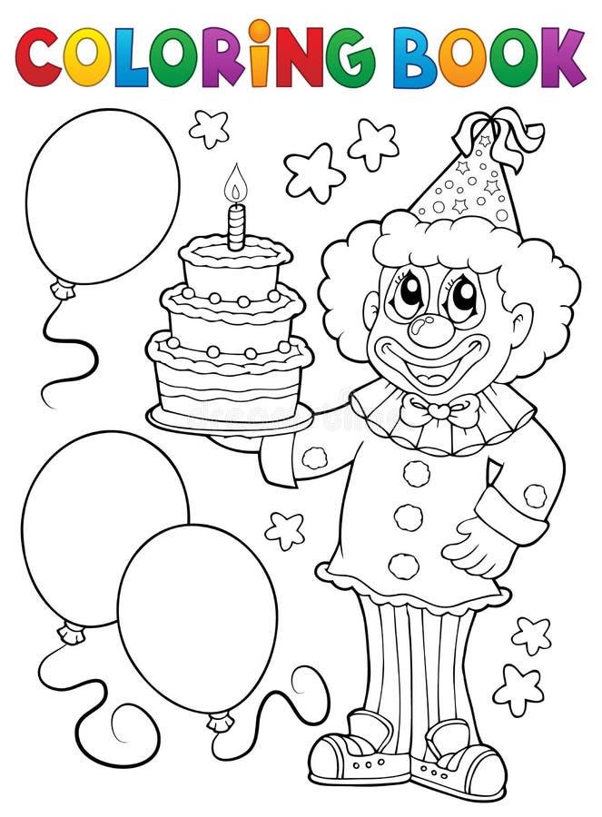 彩图小丑藏品蛋糕 向量例证