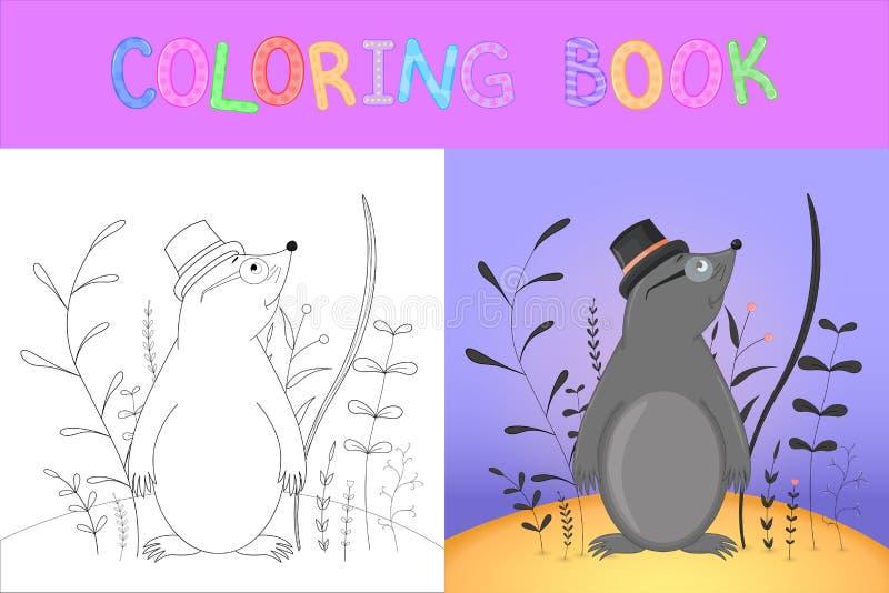 彩图或页学校和学龄前年龄的孩子的 开发的儿童的着色 r 皇族释放例证