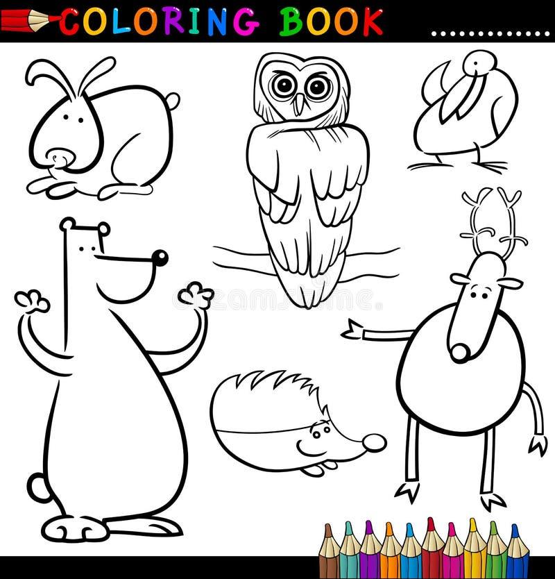 彩图或页的动物 库存例证