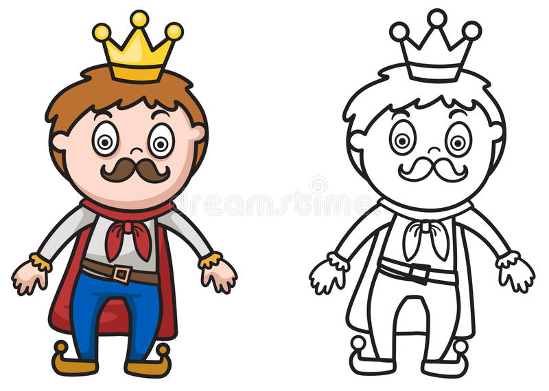 彩图的五颜六色和黑白国王 皇族释放例证