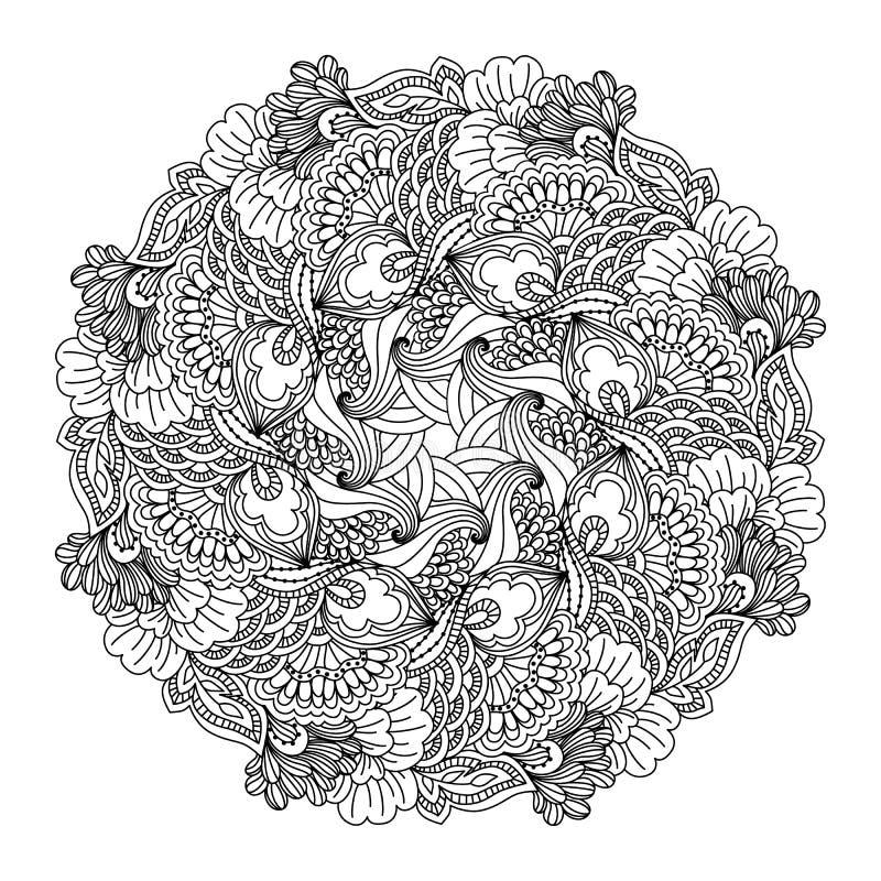 彩图的圆的元素 皇族释放例证