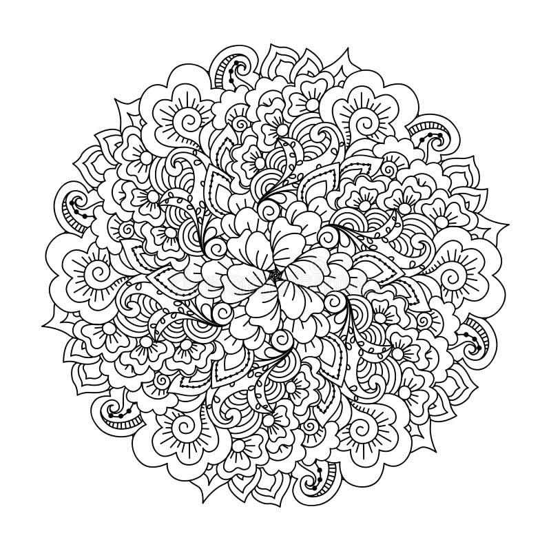 彩图的圆的元素 库存例证