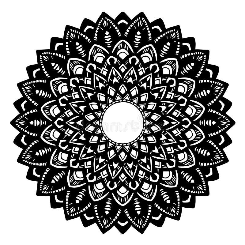 彩图的坛场 装饰圆的装饰品 异常的花形状 东方传染媒介,反重音疗法样式 织法 皇族释放例证