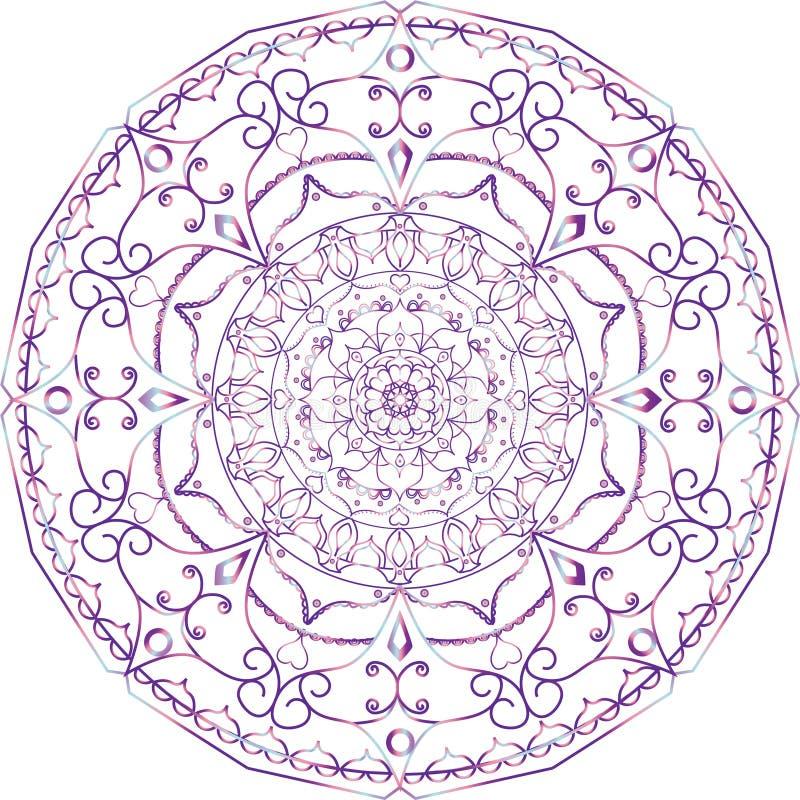 彩图的坛场 装饰圆的装饰品 皇族释放例证