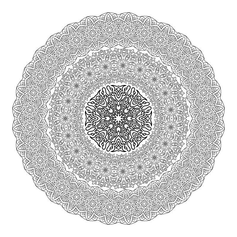 彩图的花坛场 黑白种族无刺指甲花样式 装饰要素葡萄酒 回教,阿拉伯语,印地安人,摩洛哥 皇族释放例证